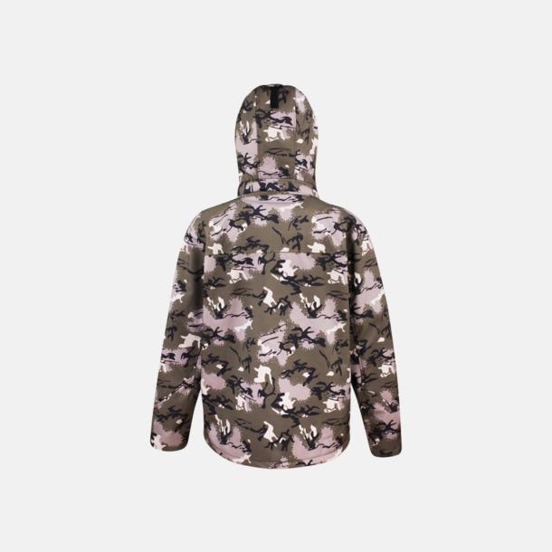 Kamouflagemönstrade jackor med reklamtryck