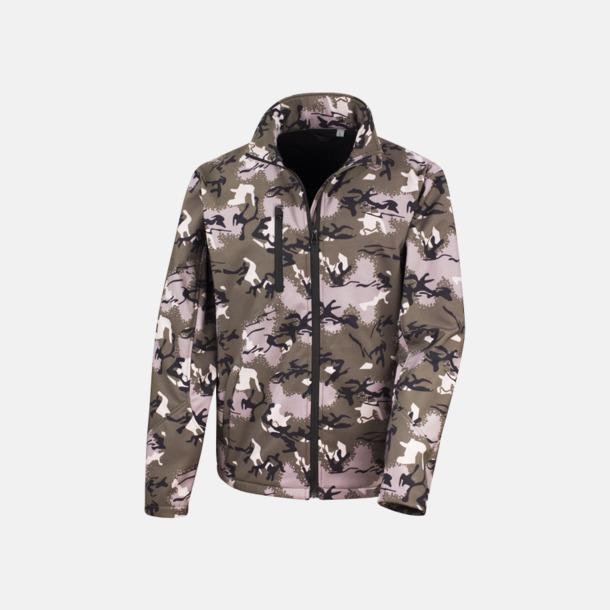 Camo Green Kamouflagemönstrade jackor med reklamtryck