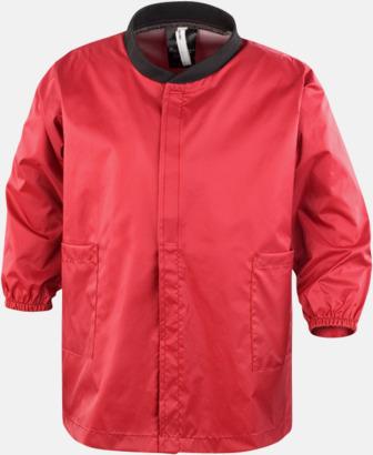 Röd Tåliga barnförkläden med reklamtryck