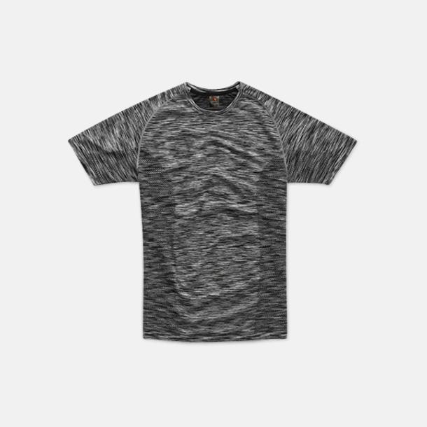 Black Opal Melange (herr) Flerfärgade funktions t-shirts med reklamtryck