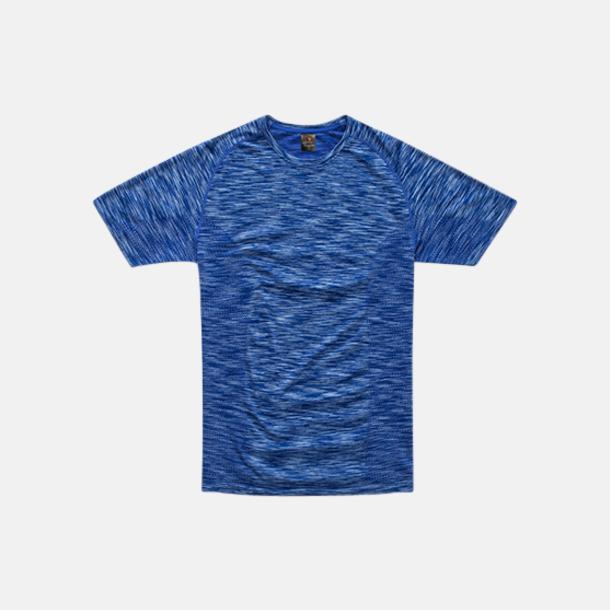 King Blue Melange (herr) Flerfärgade funktions t-shirts med reklamtryck