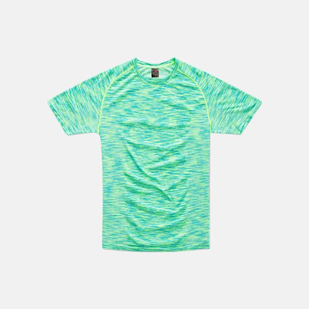 Kiwi Melange (herr) Flerfärgade funktions t-shirts med reklamtryck