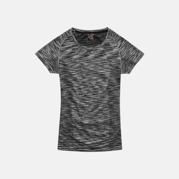 Black Opal Melange (dam) Flerfärgade funktions t-shirts med reklamtryck