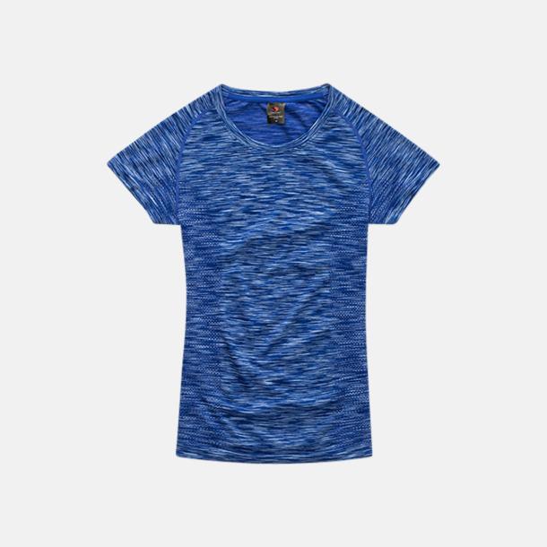 King Blue Melange (dam) Flerfärgade funktions t-shirts med reklamtryck