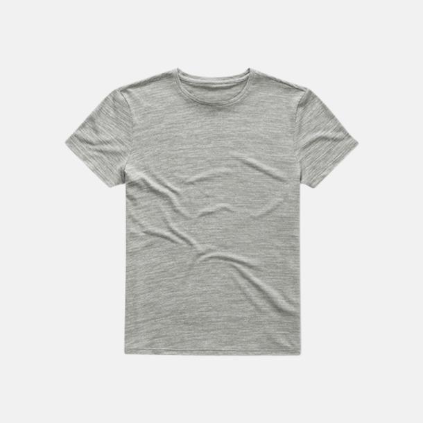 Grey Heather (herr) Fina tränings t-shirts med reklamtryck
