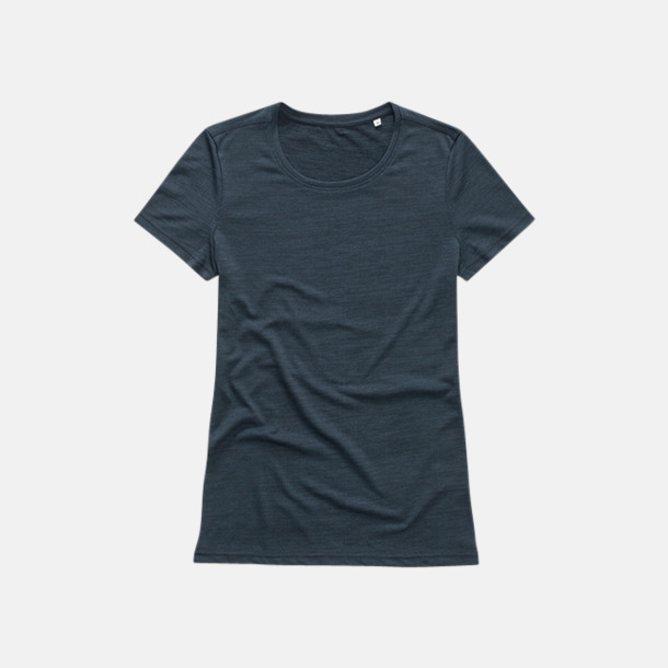 Marina Heather (dam) Fina tränings t-shirts med reklamtryck