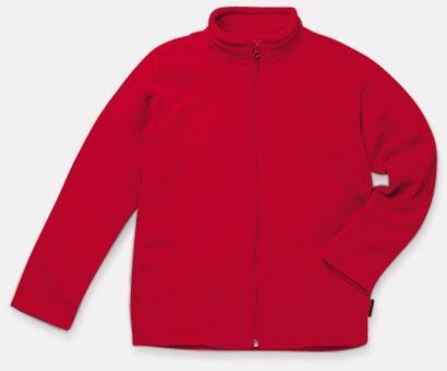 Scarlet Red (barn) Träningsfleccejackor med reklamlogo