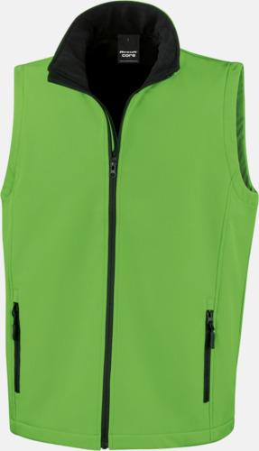 Viivd Green/Svart (herr) Herr- & dam softshell-västar med reklamtryck