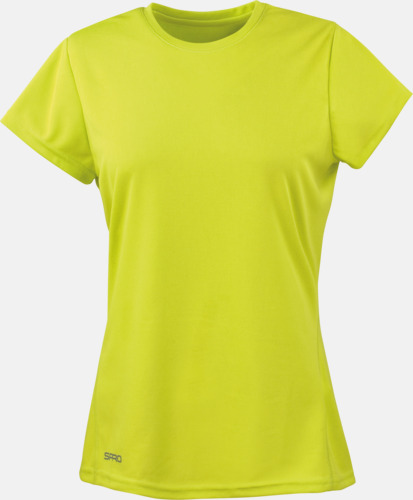 Lime (dam) Snabbtorkande funktions t-shirts med reklamtryck