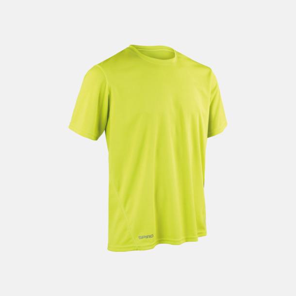 Lime (herr) Snabbtorkande funktions t-shirts med reklamtryck