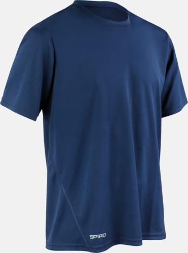 Marinblå (herr) Snabbtorkande funktions t-shirts med reklamtryck