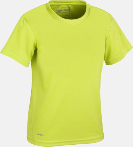 Lime (barn) Snabbtorkande funktions t-shirts med reklamtryck