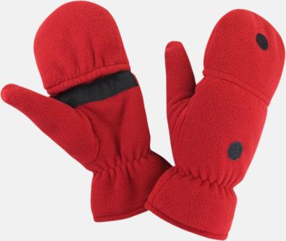 Röd Finger- & tumvantar med reklamlogo