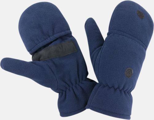 Marinblå Finger- & tumvantar med reklamlogo