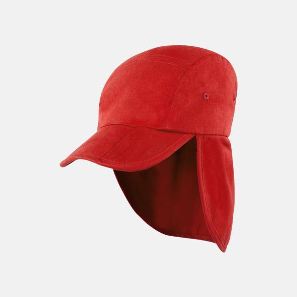 Röd Uppvikbara kepsar med reklamlogo