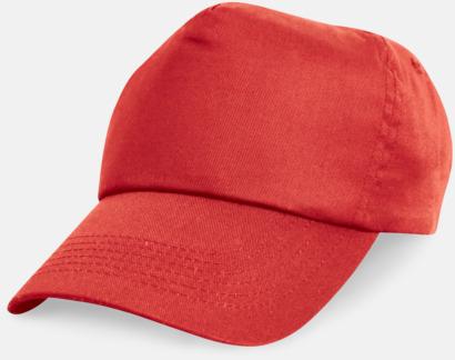 Röd Bomullskepsar för vuxna & barn - med reklamtryck