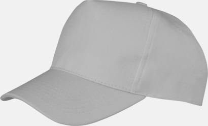 Dove Grey (vuxen) Tryckbara kepsar med logo