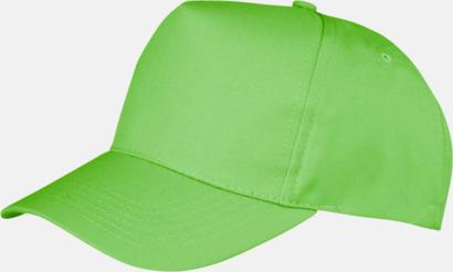 Lime (vuxen) Tryckbara kepsar med logo