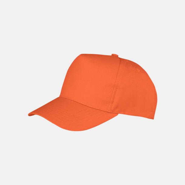 Orange Tryckbara kepsar med logo