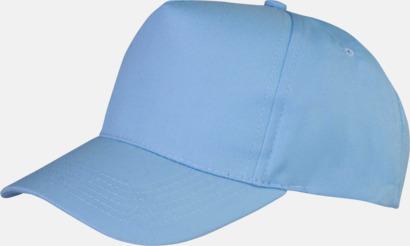 Ljusblå Tryckbara kepsar med logo