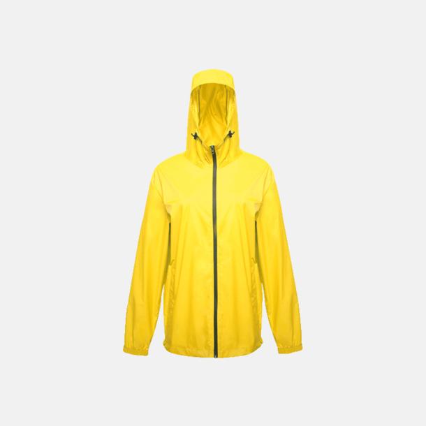 Bright Yellow Lättviktsregnjackor med reklamtryck