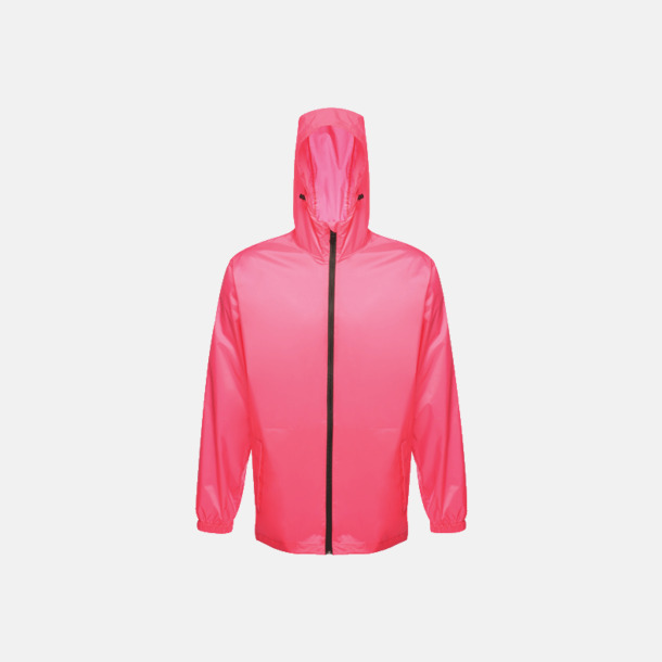 Hot Pink Lättviktsregnjackor med reklamtryck