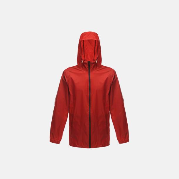 Classic Red/Svart Unisex regnjackor med reklamtryck