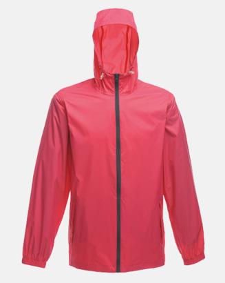 Hot Pink/Svart Unisex regnjackor med reklamtryck