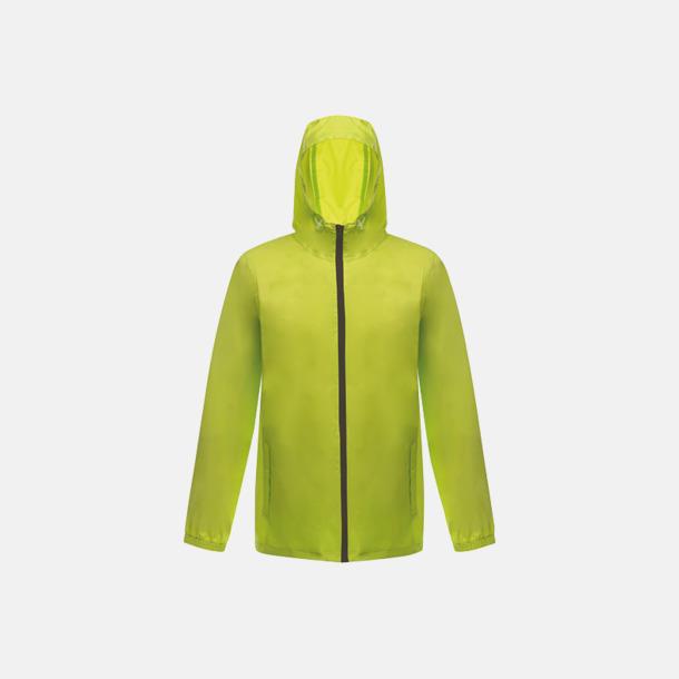 Lime Zest/Svart Unisex regnjackor med reklamtryck