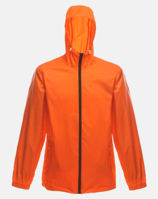 Magma Orange/Svart Unisex regnjackor med reklamtryck