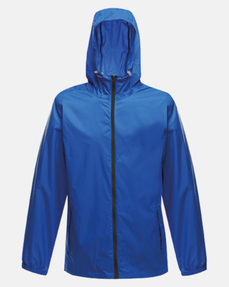 Oxford Blue/Svart Unisex regnjackor med reklamtryck