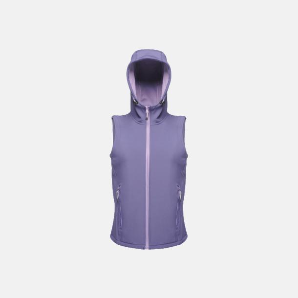 Elderberry/Paisley Purple (dam) Huvförsedda softshell bodywarmers med reklamlogo