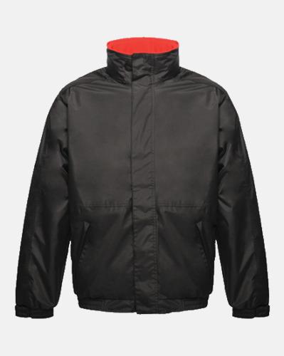 Svart/Röd (vuxen) Dover jacket från Regatta med reklamtryck
