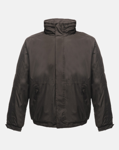Svart/Ash heather (vuxen) Dover jacket från Regatta med reklamtryck