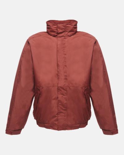 Burgundy (vuxen) Dover jacket från Regatta med reklamtryck
