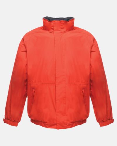 Classic Red/Marinblå (vuxen) Dover jacket från Regatta med reklamtryck