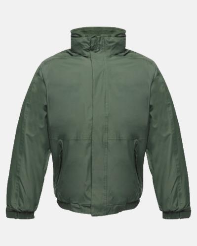 Mörkgrön (vuxen) Dover jacket från Regatta med reklamtryck