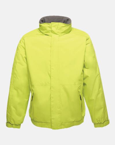 Keylime/Seal Grey solid (vuxen) Dover jacket från Regatta med reklamtryck