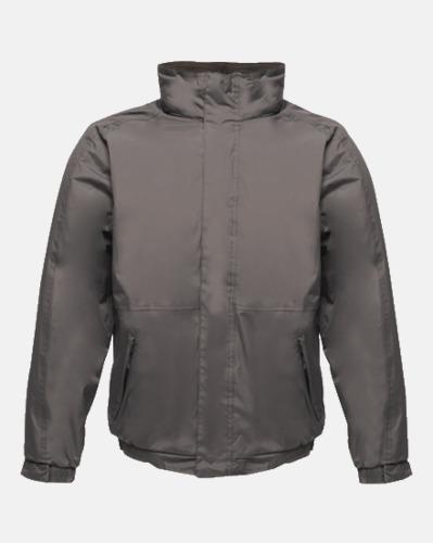Seal Grey (solid)/Svart (vuxen) Dover jacket från Regatta med reklamtryck
