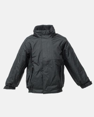 Svart/Ash heather (barn) Dover jacket från Regatta med reklamtryck