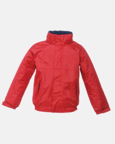 Classic Red/Marinblå (barn) Dover jacket från Regatta med reklamtryck