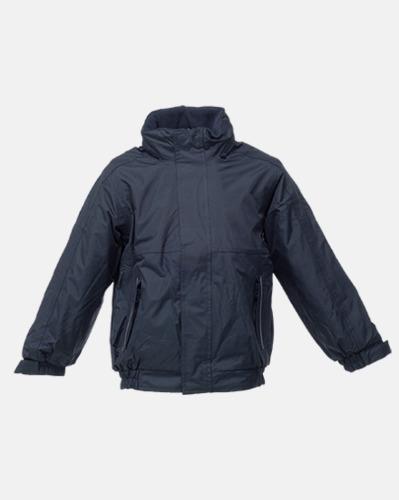 Marinblå (barn) Dover jacket från Regatta med reklamtryck