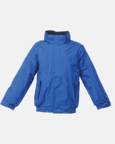 Royal Blue/Marinblå (barn) Dover jacket från Regatta med reklamtryck