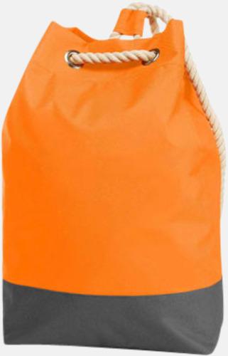 Orange Sailorinspirierade ryggsäckar med reklamtryck