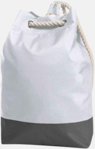Vit Sailorinspirierade ryggsäckar med reklamtryck
