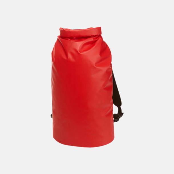 Röd Rolltop duffle ryggsäckar med reklamtryck