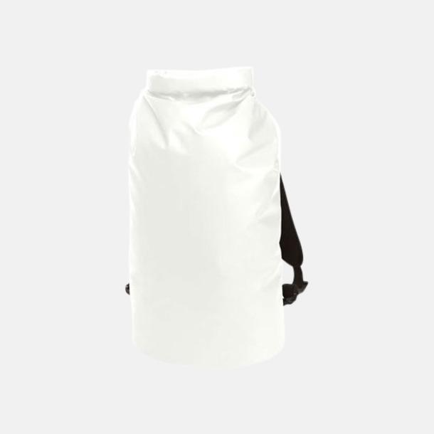 Vit Rolltop duffle ryggsäckar med reklamtryck