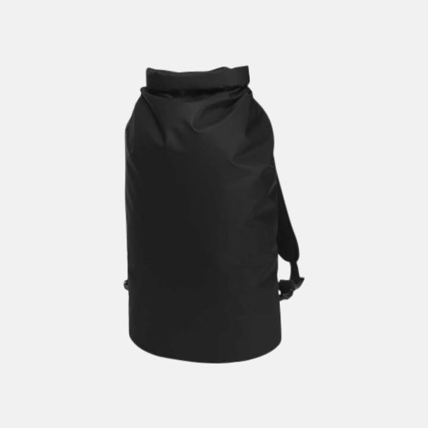 Black Matt Rolltop duffle ryggsäckar med reklamtryck