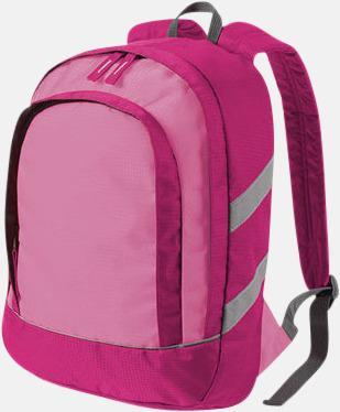 Fuchsia Små ryggsäckar för barn - med reklamtryck