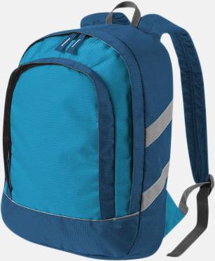 Blå Små ryggsäckar för barn - med reklamtryck